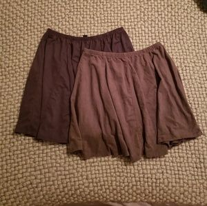 2 Brandy Melville Skirts